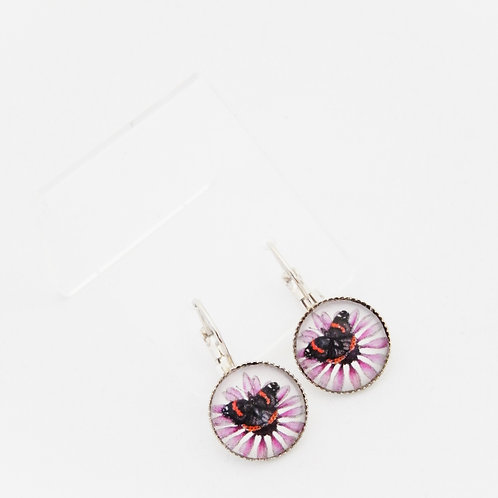 Red Admiral Drop Earrings