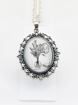 Grasses Ornate Pendant Necklace