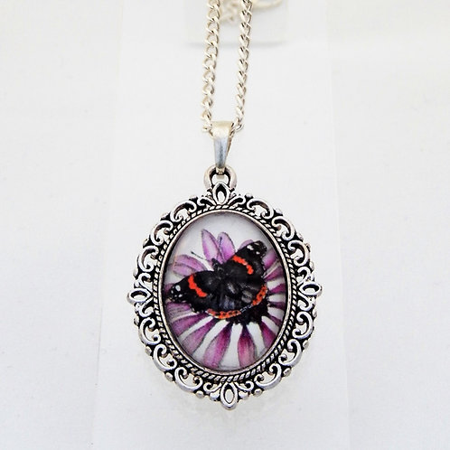 Red Admiral Mini Ornate Necklace