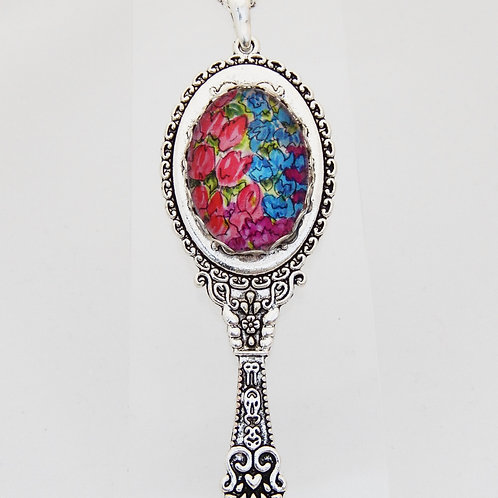 Countryside Florals Ornate Mirror Necklace
