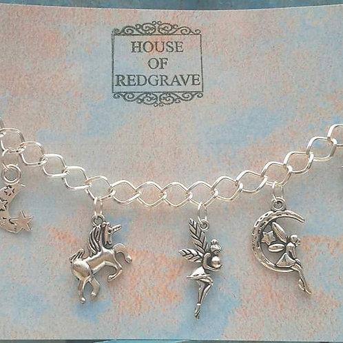 Fairy themed Charm Bracelet