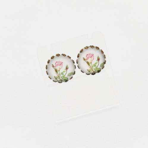 Mum's Rose Stud Earrings