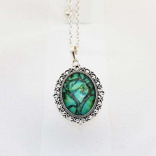 Jade Willow Mini Ornate Necklace