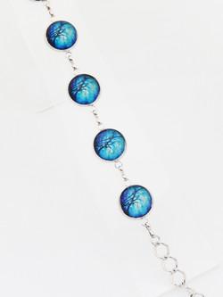 Midnight Willow Disc Bracelet