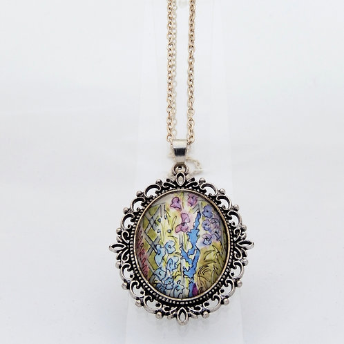 Summertime Lilacs Ornate Necklace
