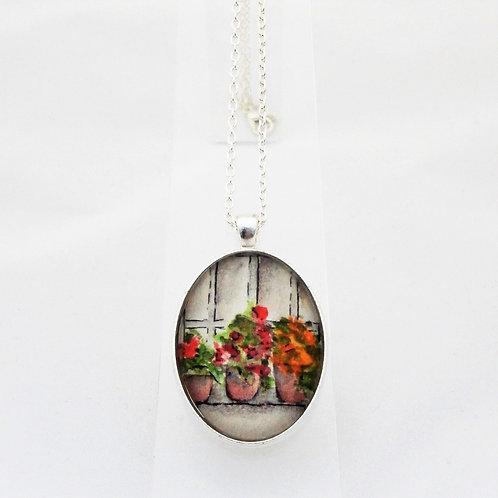 Flower Pots Delicate Necklace