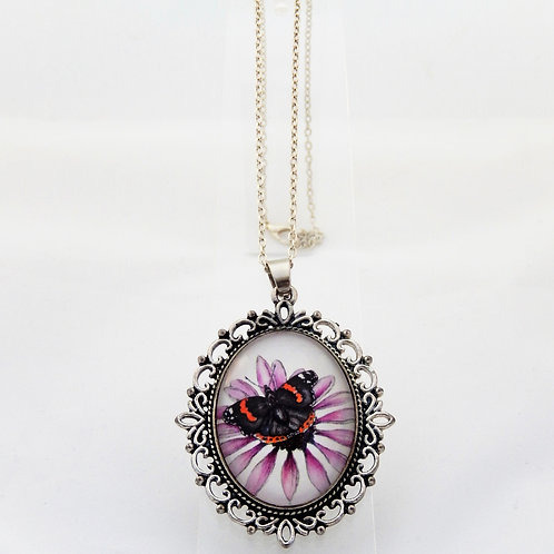 Red Admiral Ornate Necklace