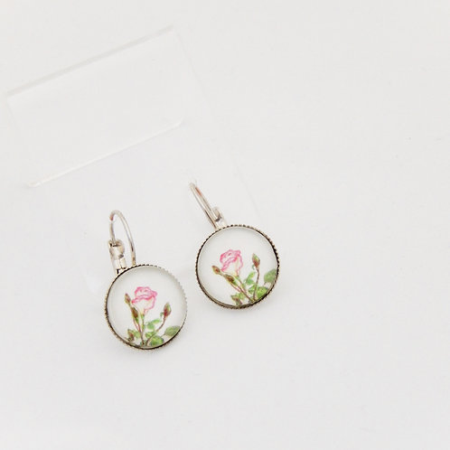 Mum's Rose Drop Earrings