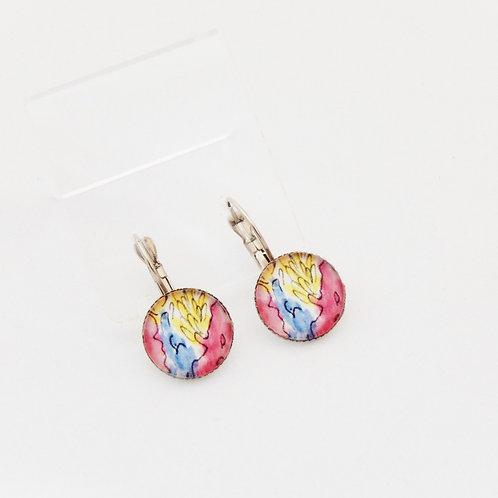 Summertime Pinks Drop Earrings