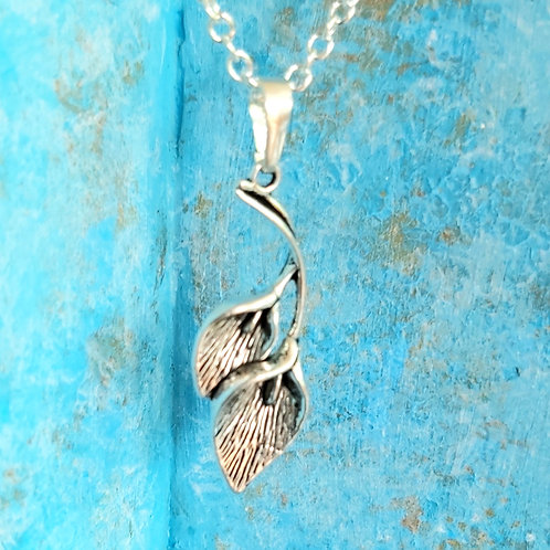 Lily silver pendant