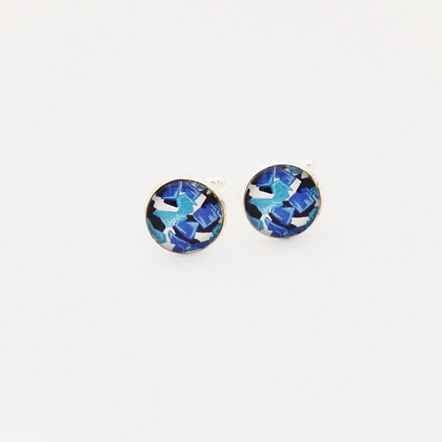 Blue Abstract Cufflinks