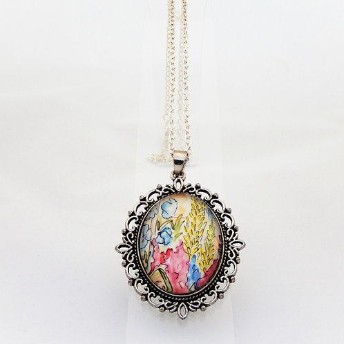 Summertime Pinks Ornate Necklace