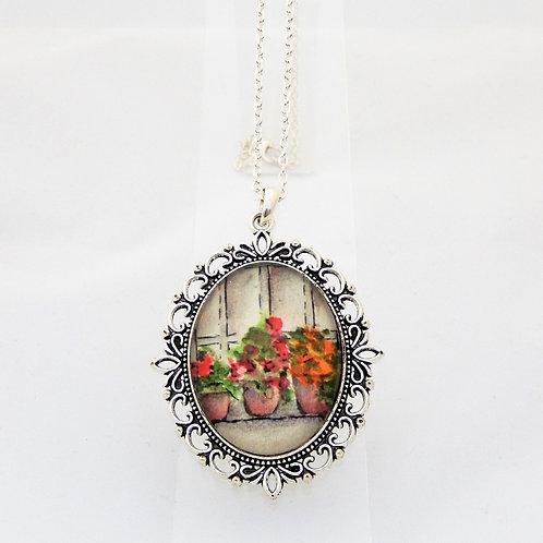 Flower Pots Ornate Necklace
