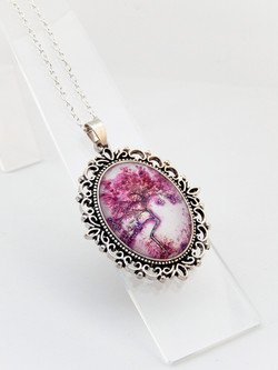 Purple Willow Ornate Necklace