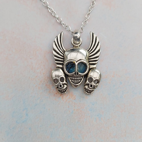 Trio of skulls necklace