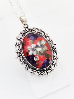 Autumn Florals Ornate Necklace