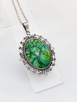 Jade Willow Ornate Pendant Necklace