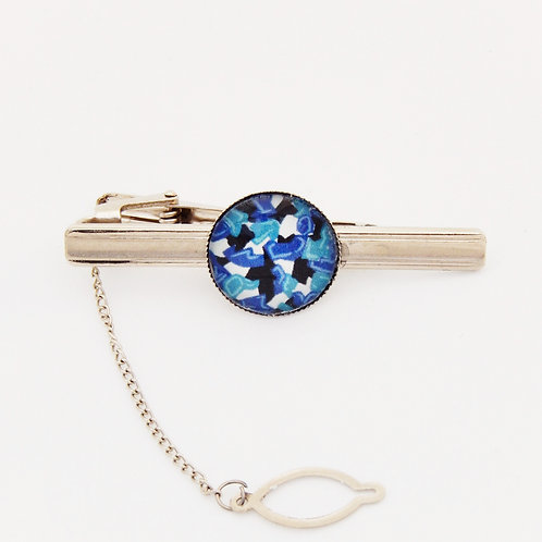 Blue Abstract Tie Pin