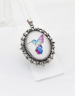 Hummingbird Ornate Pendant Necklace