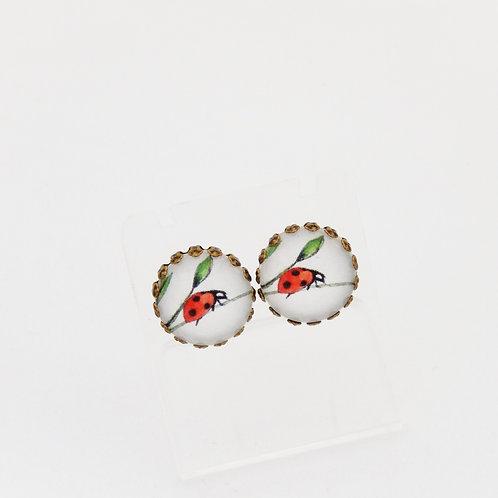 Ladybird Stud Earrings