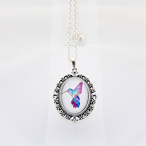 Hummingbird Mini Ornate Necklace