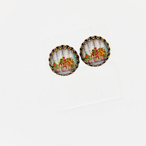 Flower Pots Stud Earrings