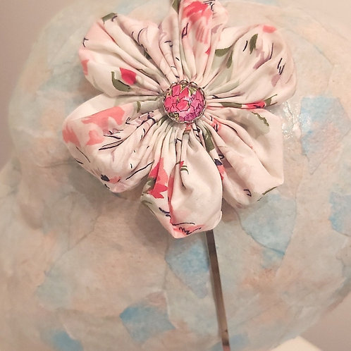 Floral Pink Fabric Hairband