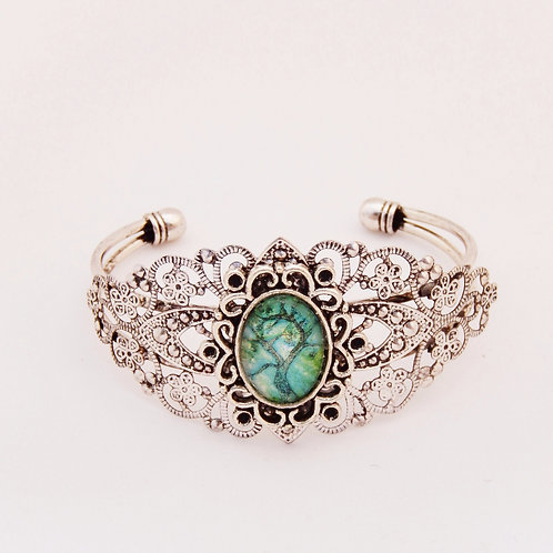 Jade Willow Bangle (Mini Setting)