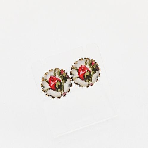 Rosebud Stud Earrings