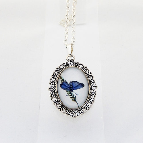 Blue Morpho Mini Ornate Necklace