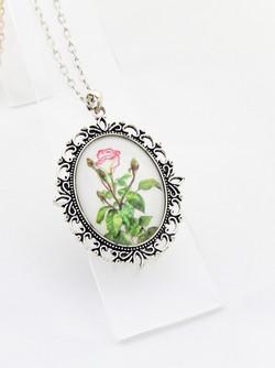 Mum's Rose Ornate Pendant Necklace