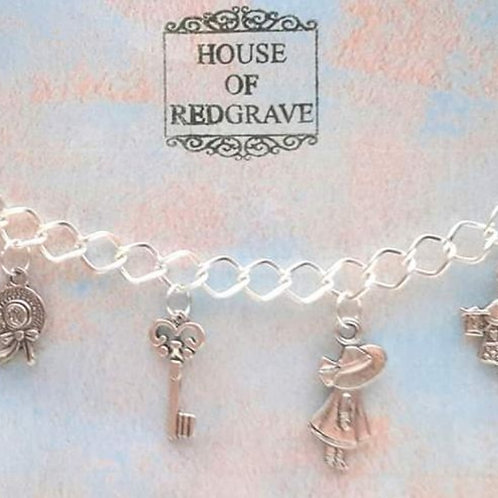 Afternoon Tea themed charm bracelet