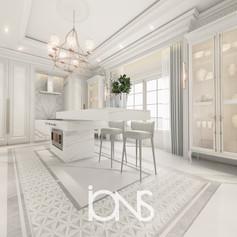 Kitchen interior design Dubai villa