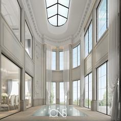 indoor Swimming pool Interior design in Doha, Qatar