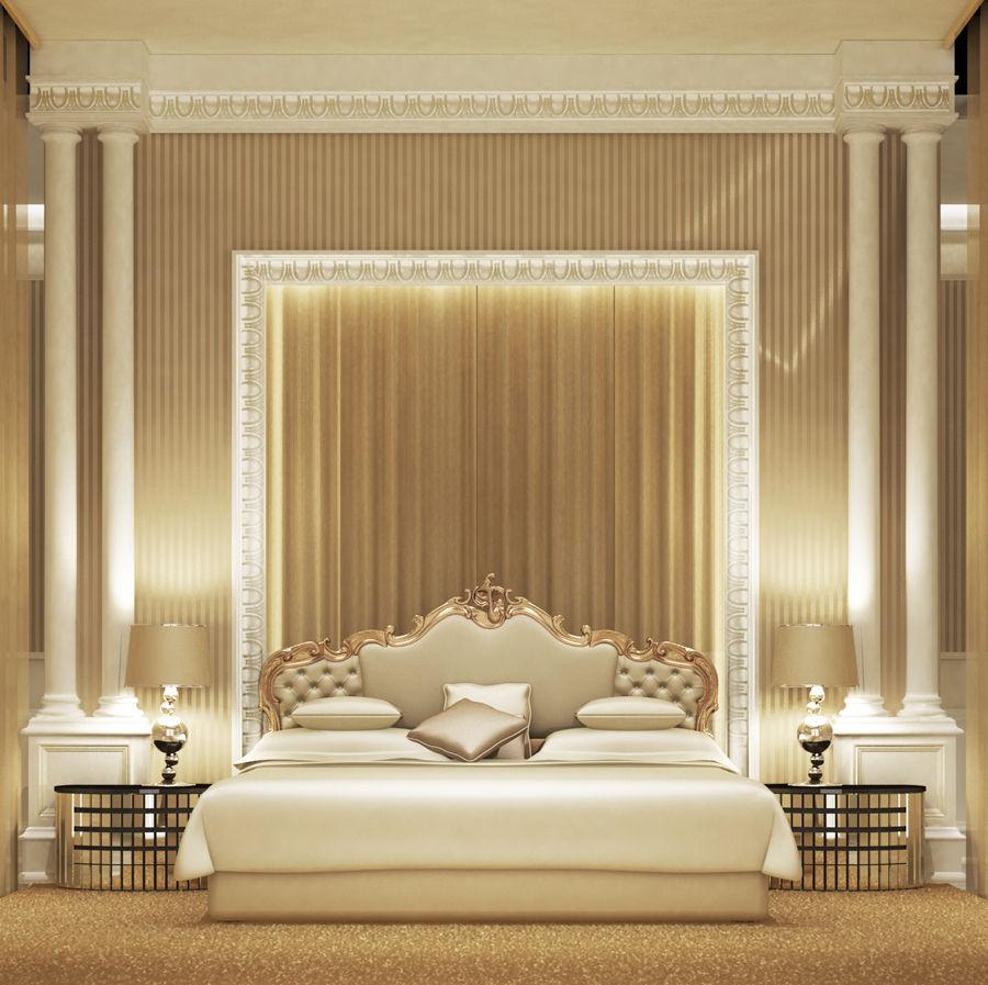 Bedroom Design Private Palace: Interior Designer UAE