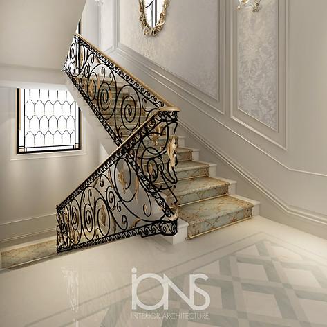 Staircase Interior design , Dubai Villa