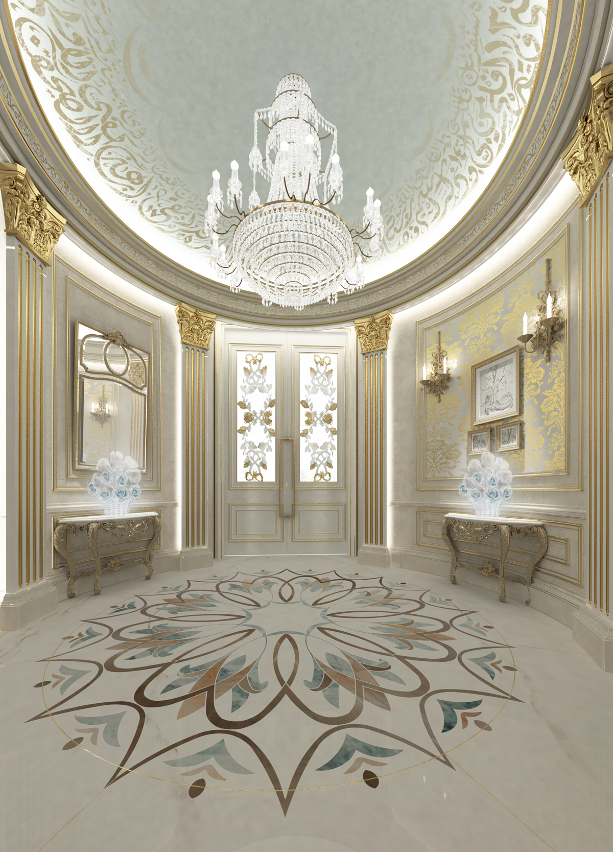 Decorating Ideas for a Grand Foyer