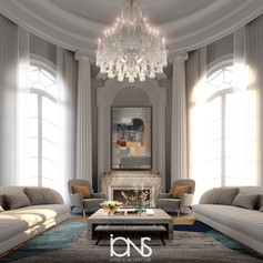 Virginia USA Mansion Fireplace sitting lounge interior Design