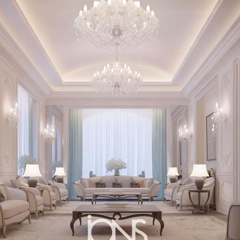 Family Living area interior design Riyadh saudi Arabia