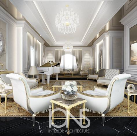 Classic Majils interior design in Doha ,Qatar