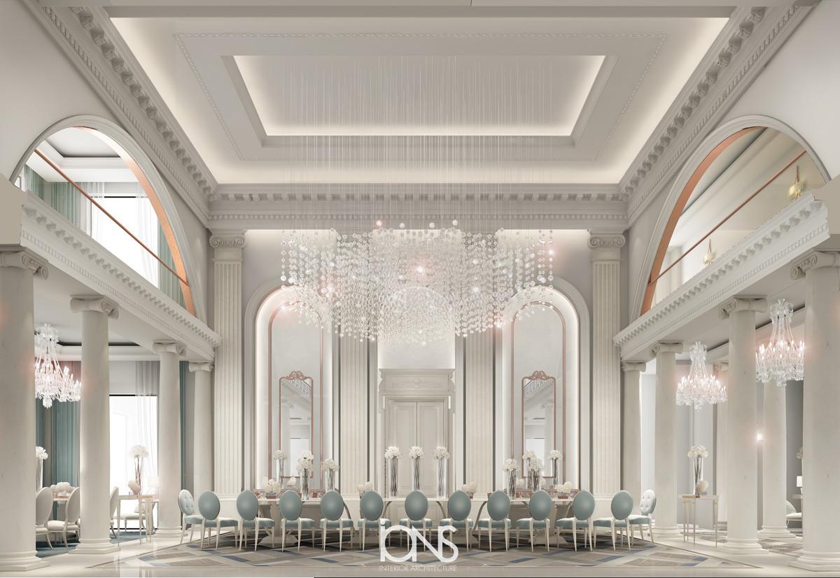 Dinng room interior design Dubai villa