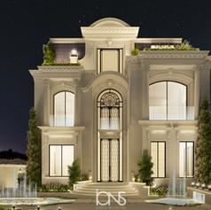 Villa front architecture design in Doha Qatar