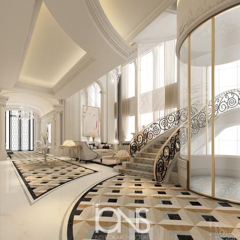 Luxury entrance lobby interior design-Doha,Qatar