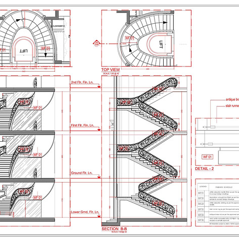 staircase sectional details