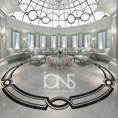 Skylight room interior design in Doha