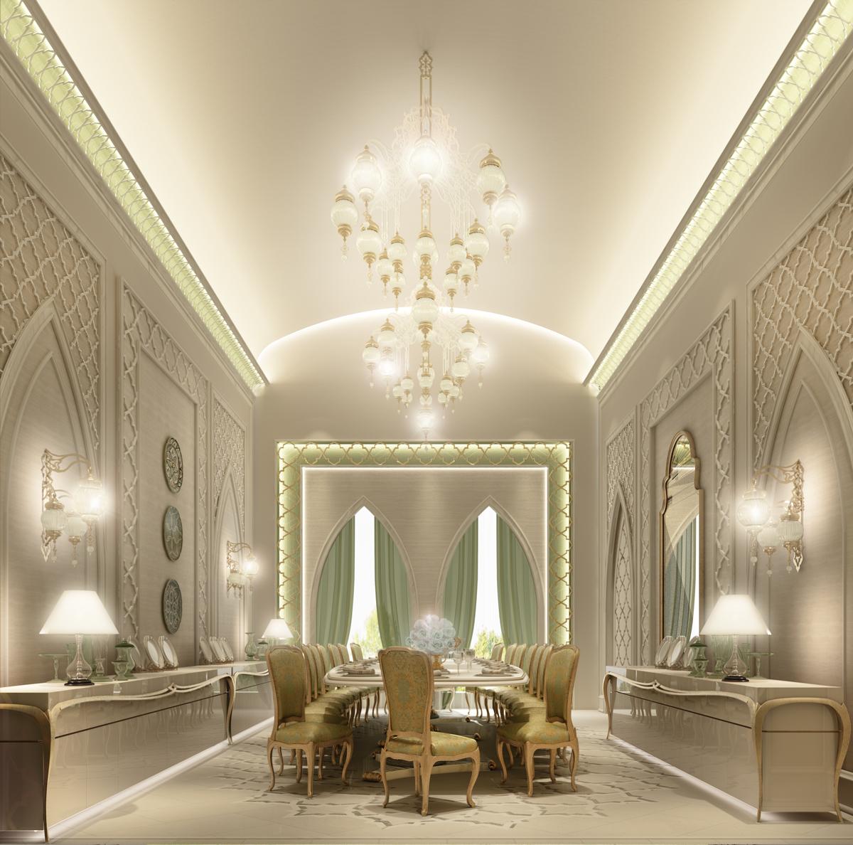 Moroccan  Dining Room Interior