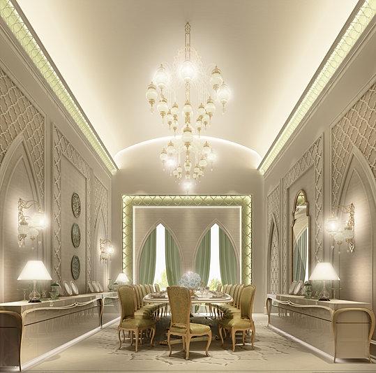 Villa Design Dubai Dining Room