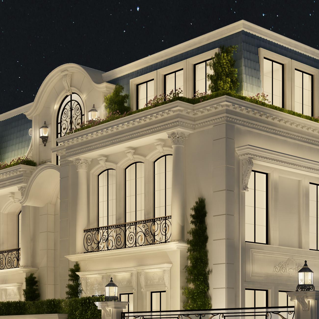 Luxe Villa Design in Regency Style
