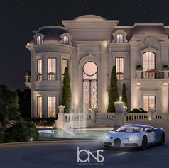 Entrance design for a palace in Doha Qatar
