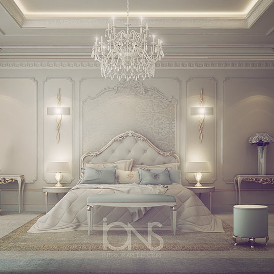 White Luxury Bedroom: Interior Design Company In Dubai UAE
